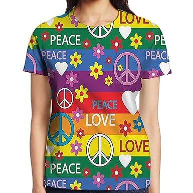 Amazon Com Wulion Heart Peace Symbol Flower Power Political Hippie