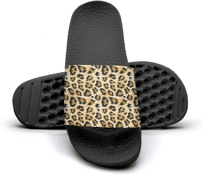 Golden Leopard skin Mens sliders Slides