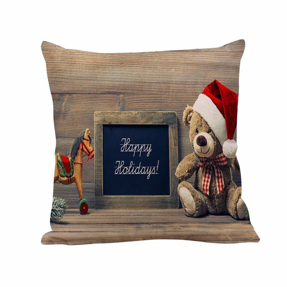 bhydry cushion covers 18x18 christmas pillow covers linen sofa home decor pillow cases