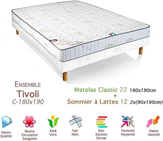 Matalia Tivoli Conjunto colchón somier 22/12 Classic 180 x ...