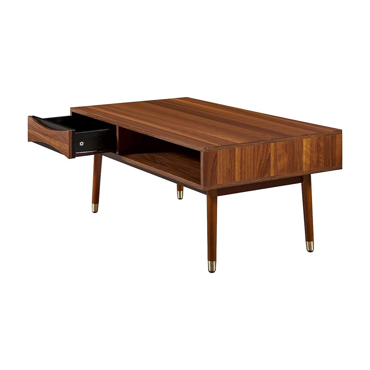 "Versanora VNF-00065 Dawson Coffee Table | Living Room 39.62"" x 21.62"" x 17.75"" Walnut"