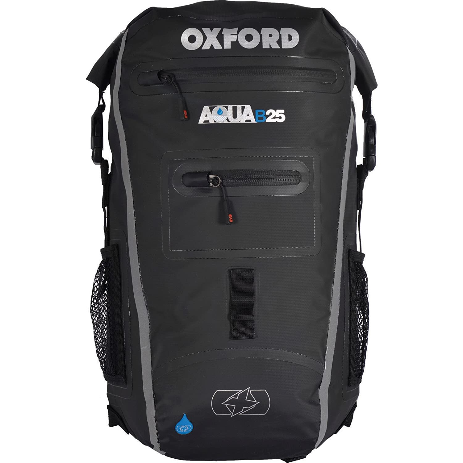 Oxford Unisex Aqua B Backpack, Black/Fluorescent, 25 litre Black/Grey OL962
