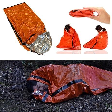 Amazon heavy duty emergency solar thermal sleeping bag bivvy heavy duty emergency solar thermal sleeping bag bivvy sack survival camp blanket publicscrutiny Gallery