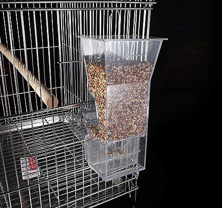BABYSq Comedero de Semillas de pájaros para Accesorios de Jaula ...