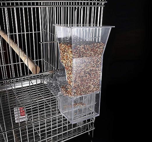 BABYSq Alimentador de Semillas de Aves para Accesorios de Jaula ...