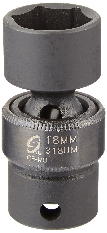 Sunex 318um 3//8-Inch Drive 18-Mm Universal Impact Socket