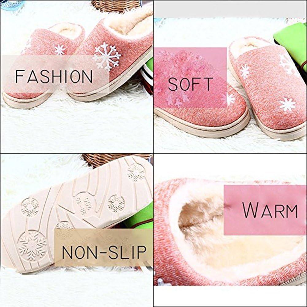 Minetom Hiver Unisex Int/érieure Chaussons Coton Pantoufles Peluche Chaudes Cartoon Lapin Fond /Épais Antid/érapant Chaussons Hommes Femmes Slipper