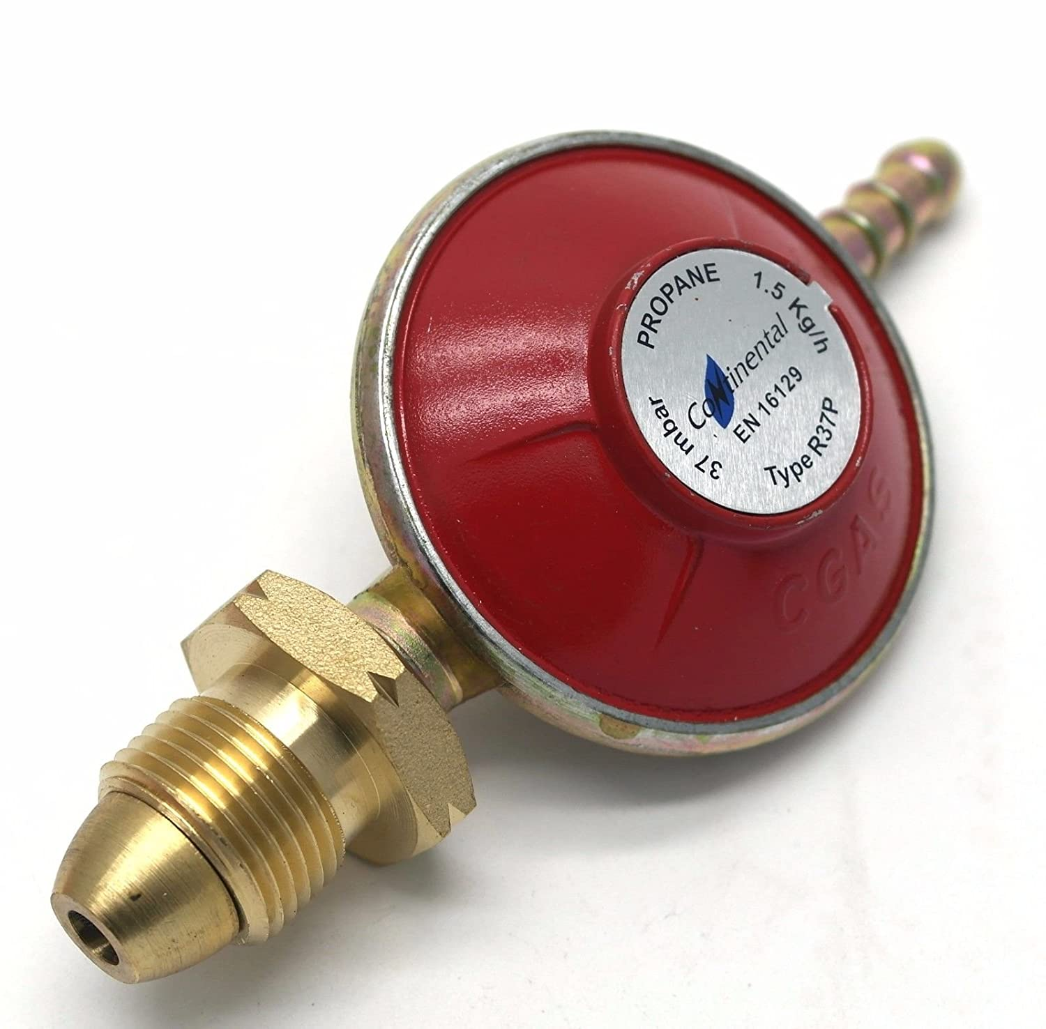 Propane Gas Regulator 37Mbar Standard Screw Type 1.5 Kg/H Fits Calor / Flogas continental