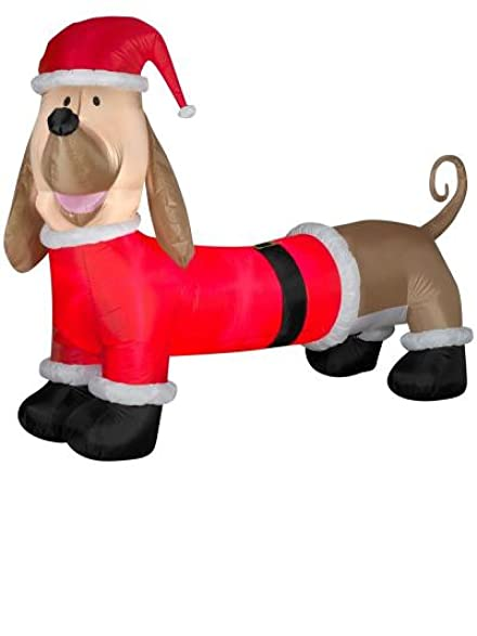 dachshund christmas decoration airblown inflatable 65 ft yard outdoor decor