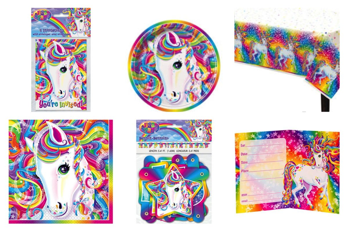 Amazon Lisa Frank Rainbow Majesty Happy Birthday Party Pack
