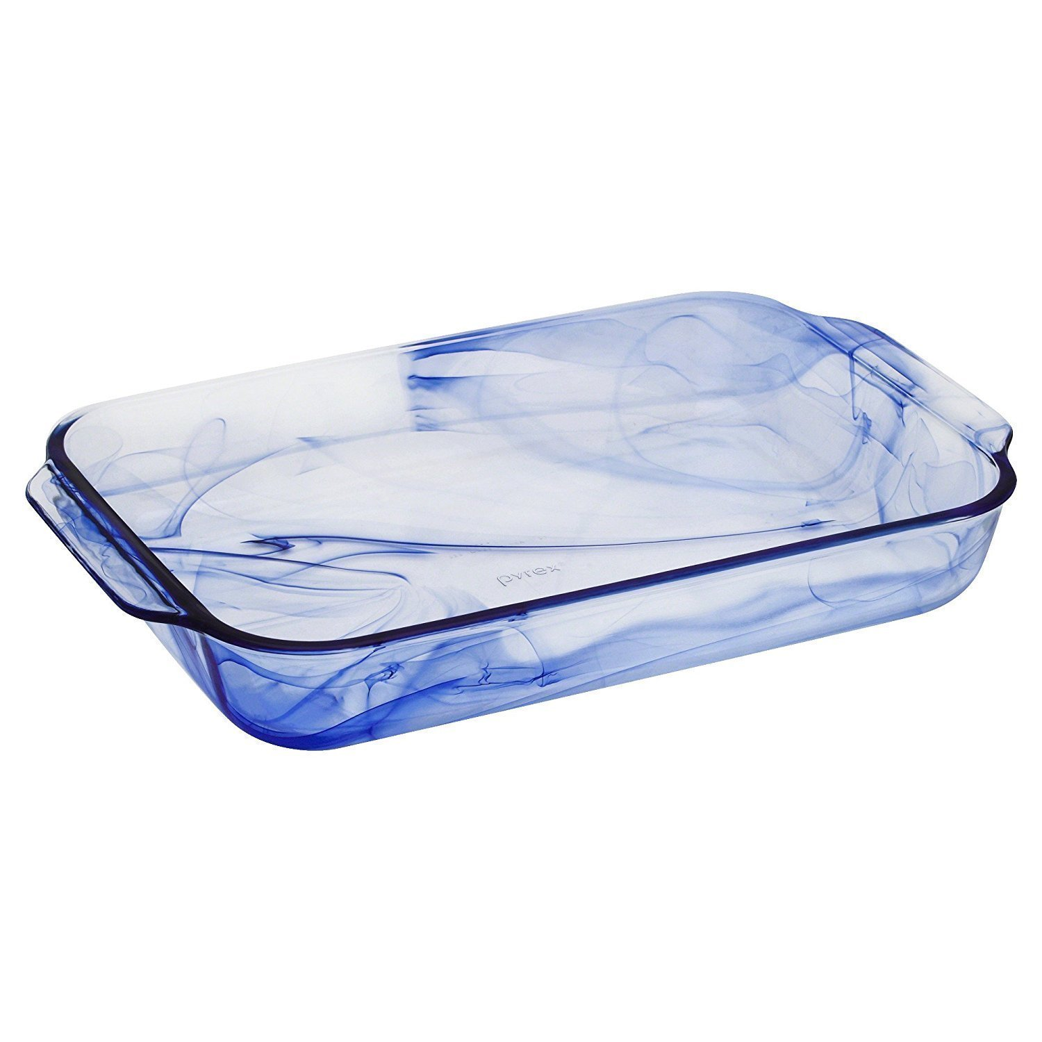 Pyrex Watercolor Collection Blue Lagoon 3 Quart Oblong Baking Dish World Kitchen
