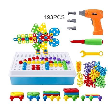 Amazon Com Educational Building Blocks Construction Puzzle 3d Toys