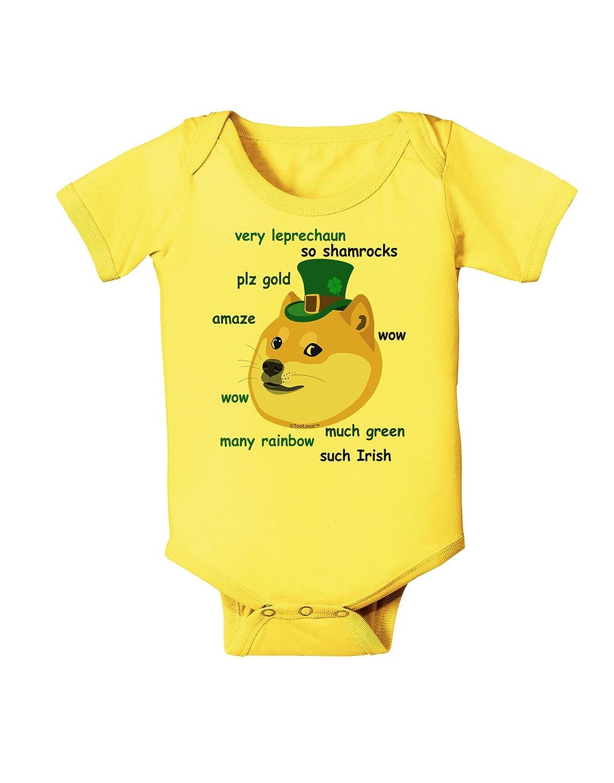 TooLoud St Patricks Day Leprechaun Doge Baby Romper Bodysuit