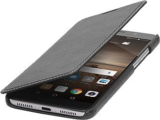 StilGut Book Type sans Clip, Housse en Cuir pour Huawei Mate 9. Etui de Protection à Ouverture latérale, en Noir