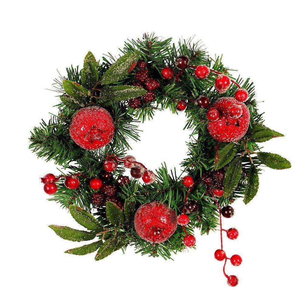 Promisen Halloween Garland, Pomegranate Fruit Door Wreath Door Wall Ornament Christmas Party Decoration (As Shown)