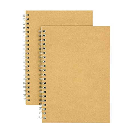 9fadccb7acb2 Soft Cover Spiral Notebook Journal 2-Pack, Blank Sketch Book Pad, Wirebound  Memo Notepads Diary Notebook Planner with Unlined Paper, 100 Pages/ 50 ...