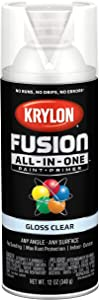 Krylon K02705007 Fusion All-In-One Spray Paint for Indoor/Outdoor Use, Gloss Clear