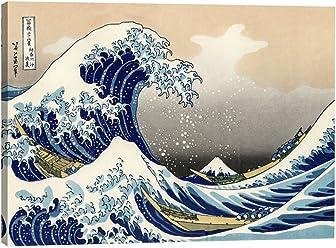 6ac6544d241 Eliteart-The Great Wave Off Kanagawa by Katsushika Hokusai Reproduction Giclee  Art Canvas Prints