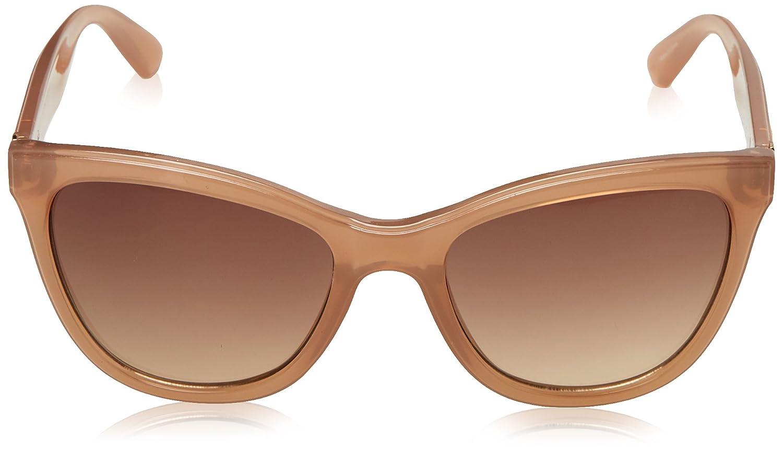 Guess Unisex-Erwachsene Sonnenbrille GF029672F56, Kristall Beige, 56