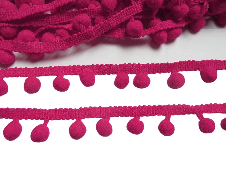 YCRAFT One Roll 18 Yards Ball Fringe 7//8 Wide Pom Pom Trim Ribbon Sewing-Grey
