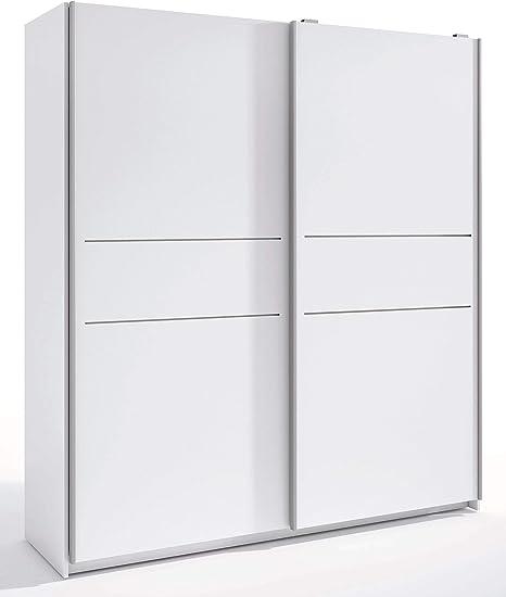 Miroytengo Armario Siena Color Blanco 2 Puertas correderas habitación Dormitorio Matrimonio 201x182x56 cm: Amazon.es: Hogar