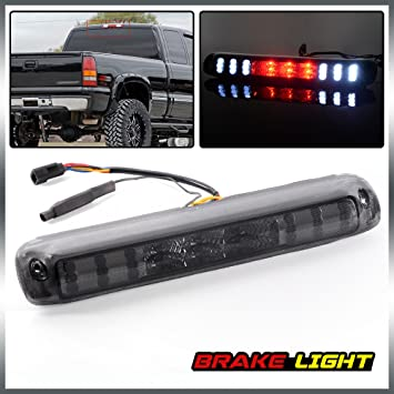 High Mount Stop Lights Replacement fit for 1999-2006 Chevy Silverado 1500 2500 3500 GMC Sierra LED 3rd Tail Brake Cargo Light