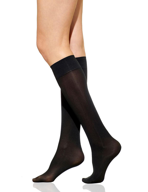 Maidenform Knee Hi Socks Comfortable Stay Up Band Light Leg Support 6 Pair
