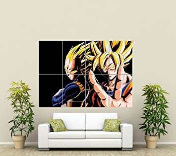 Amazoncom DRAGON BALL Z GIANT ART POSTER PICTURE PRINT ST - Dragon ball z wall decals