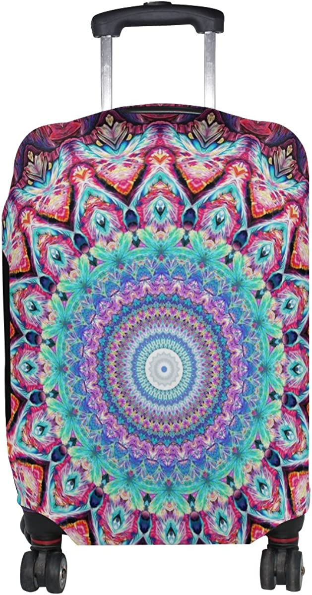 LAVOVO Hippie Mandala Bohemian Luggage Cover Suitcase Protector Carry On Covers