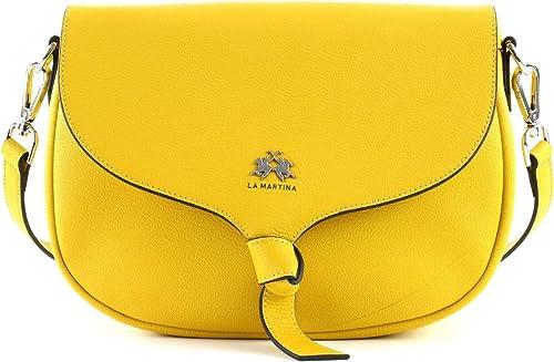 LA MARTINA Solana Handbag Handtasche Schultertasche Nugget Gold Gelb Neu