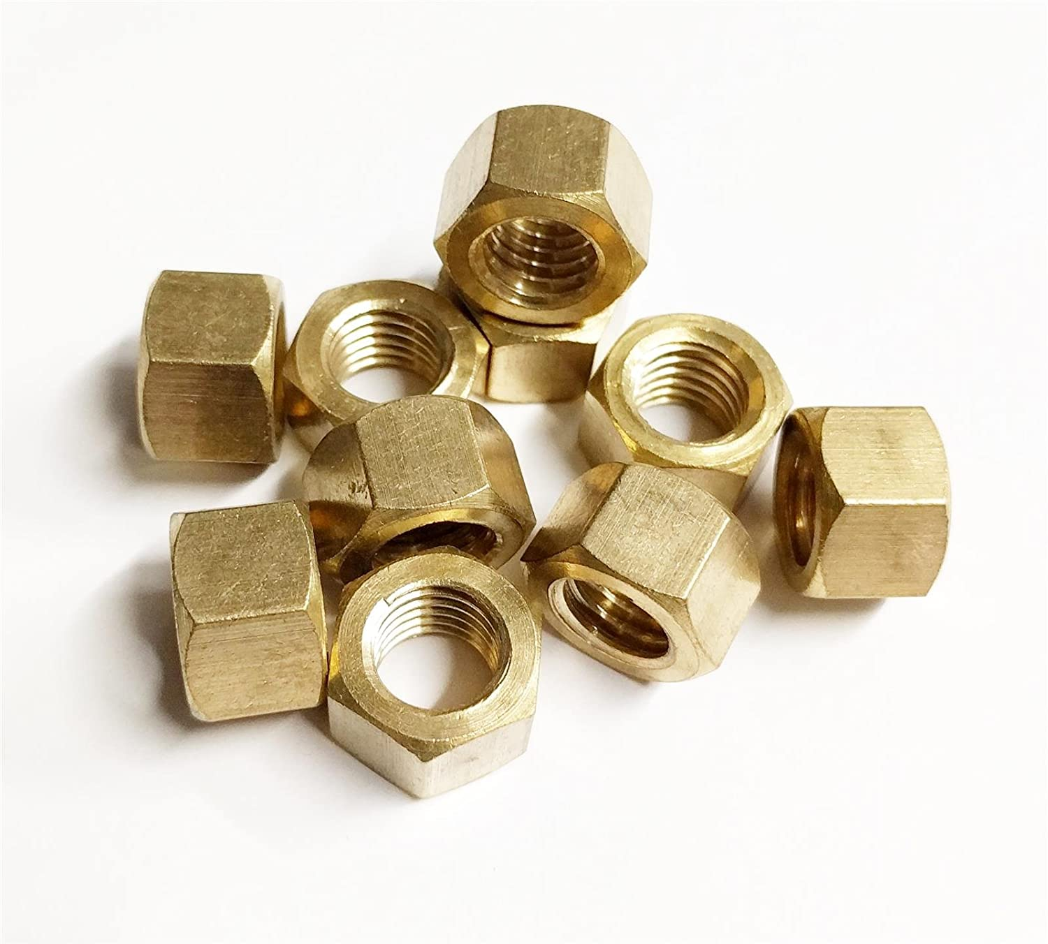 10x Brass Metric Exhaust Manifold Nut 10mm x 1.25mm High Temperature Nuts AutoPower