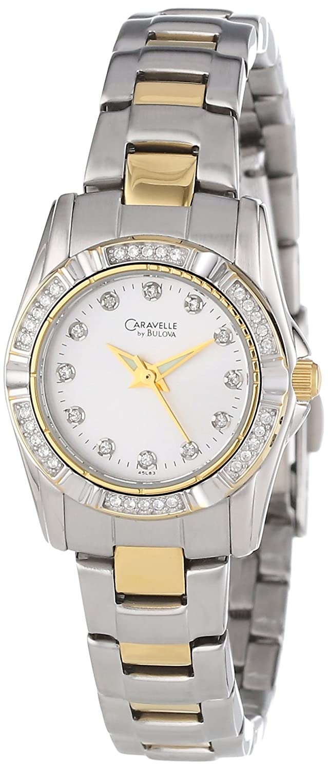 Caravelle by Bulova Women s 45L83 Crystal Accented Silver Dial Watch