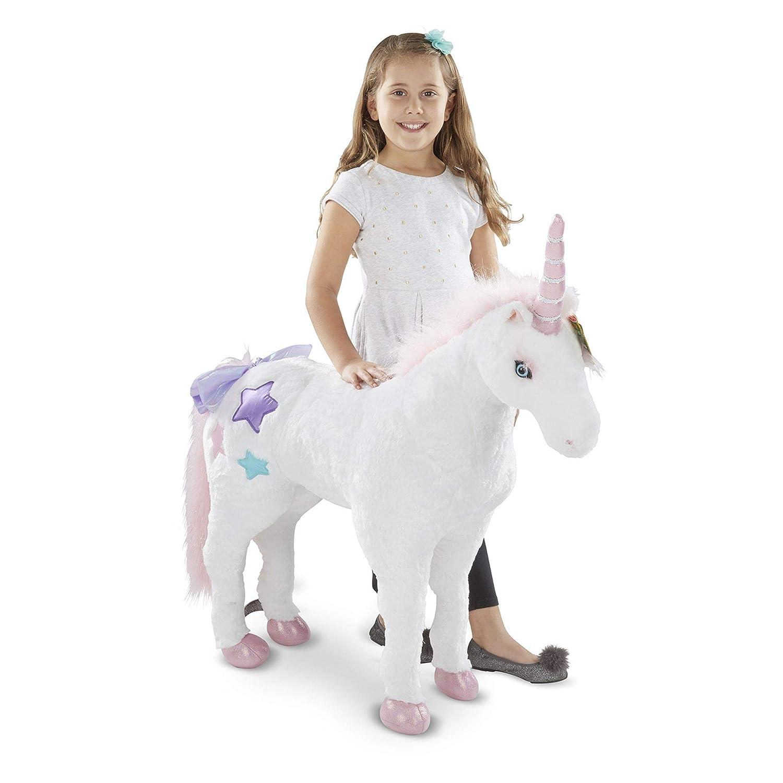 Lifelike Stuffed Animal Melissa /& Doug Giant Unicorn Over 0.5 Meters Tall