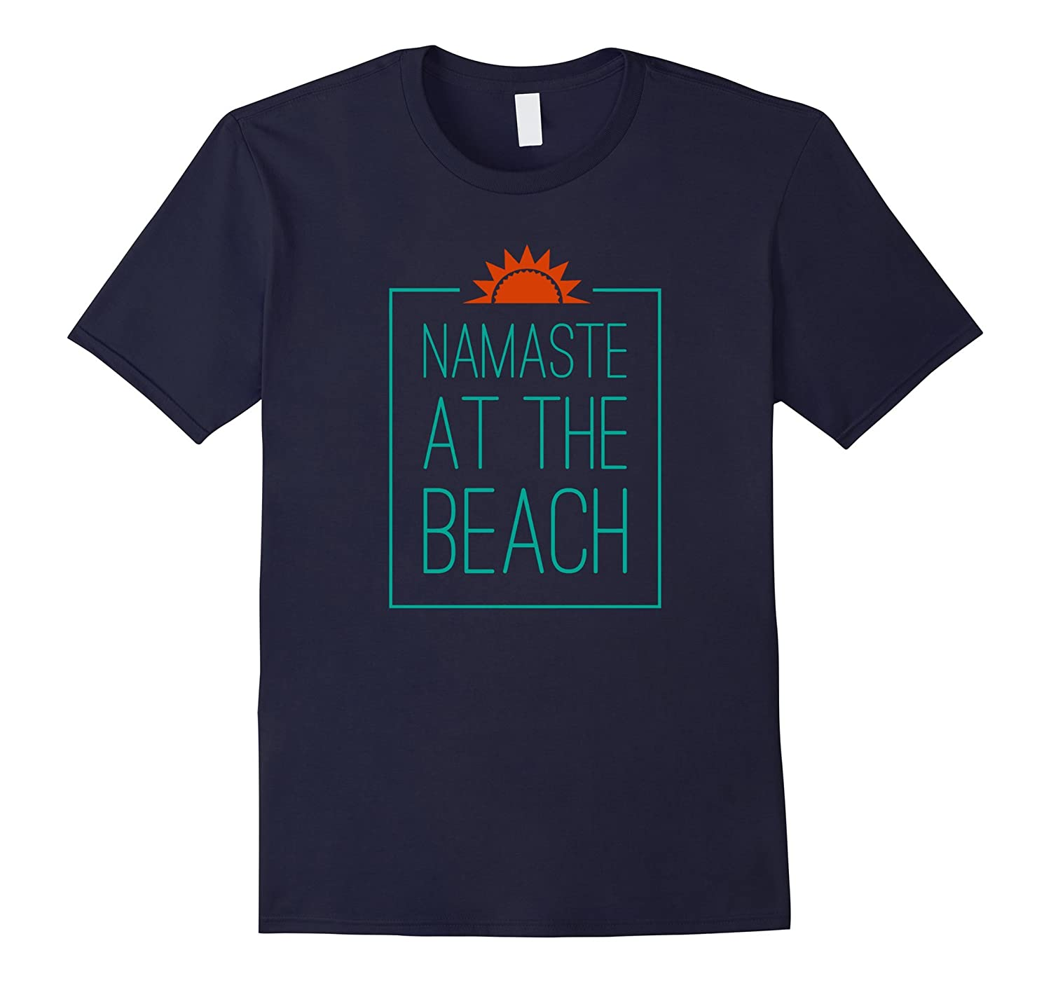 Namaste at the Beach T-Shirt Funny Yoga Humor Beach Shirt-PL