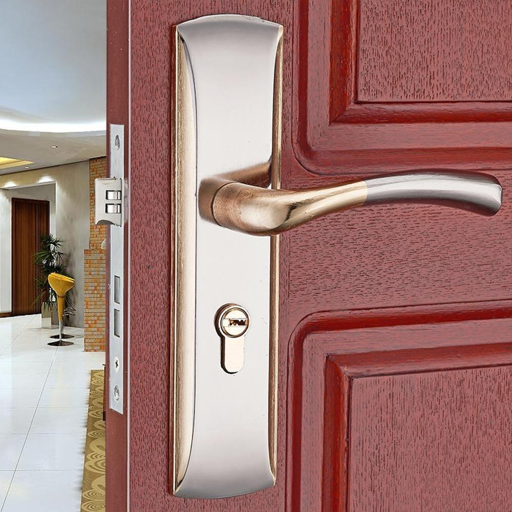 Daeou Aluminum Alloy Door Locks Interior Door Locks Simple Door Handle Handle Lock Wood Door Locks Bedroom Hardware Locks