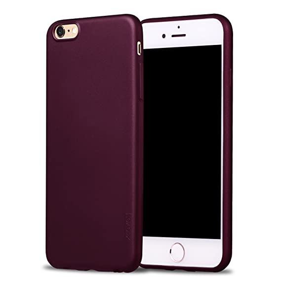 the latest 6f8c5 78afe X-level iPhone 6s Case, [Guardian Series] Soft Elastic [Thin Light] for  iPhone 6/6s (4.7 Inch) Wine Red