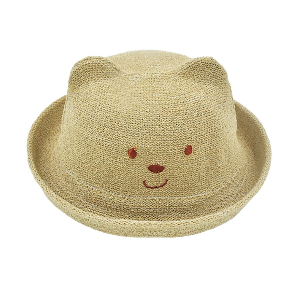 Unisex Lovely Straw Hat Sun Hats Cap for Kids/Toddler, Light Coffee Kylin Express