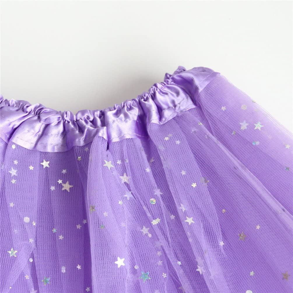 Rysly Girls Sparkle Tutus Princess Ballet Dance Layered Tulle Tutu Skirts,2-7T
