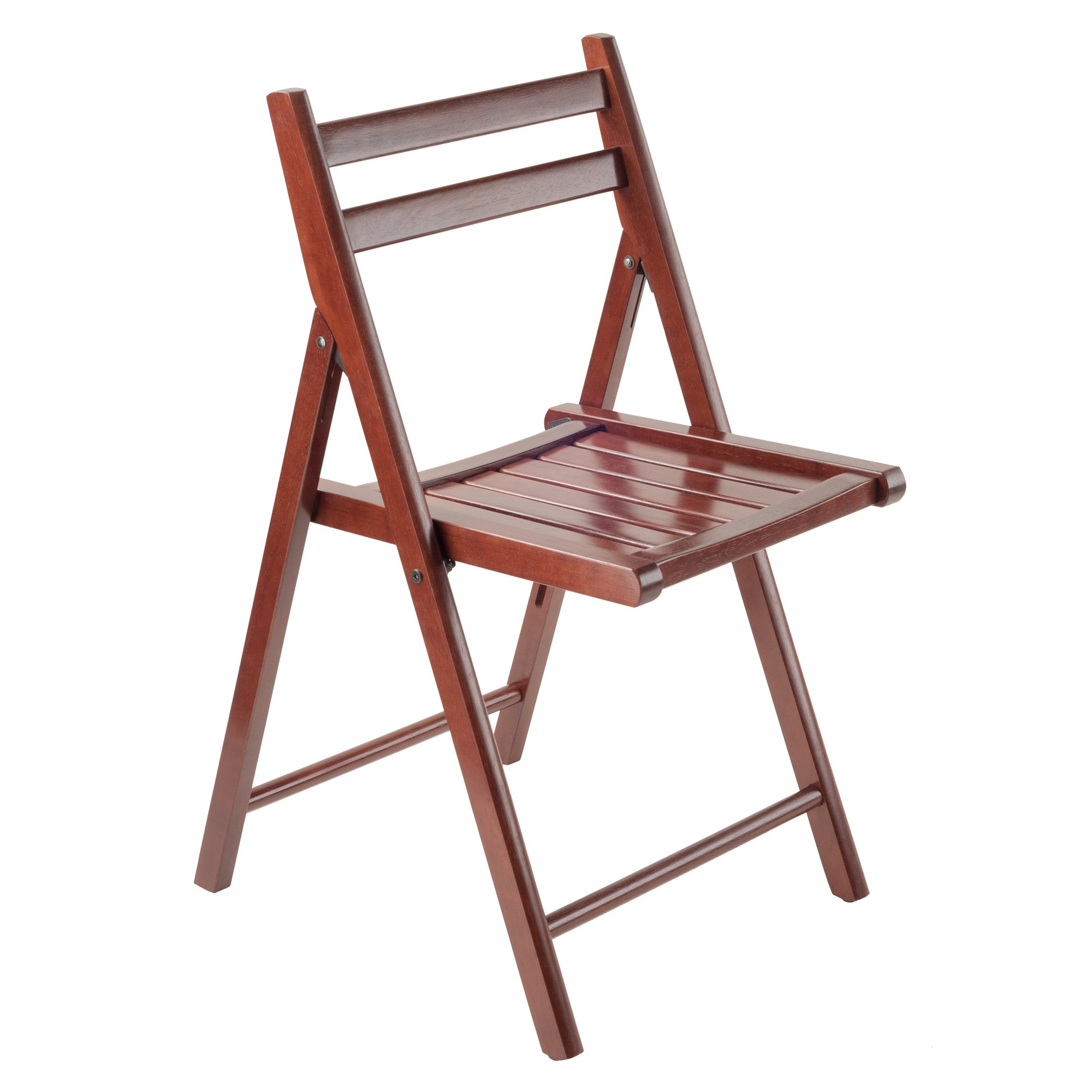 Winsome Wood Robin 4 Piece Folding Chair Set Walnut by Winsome Wood (Image #3)