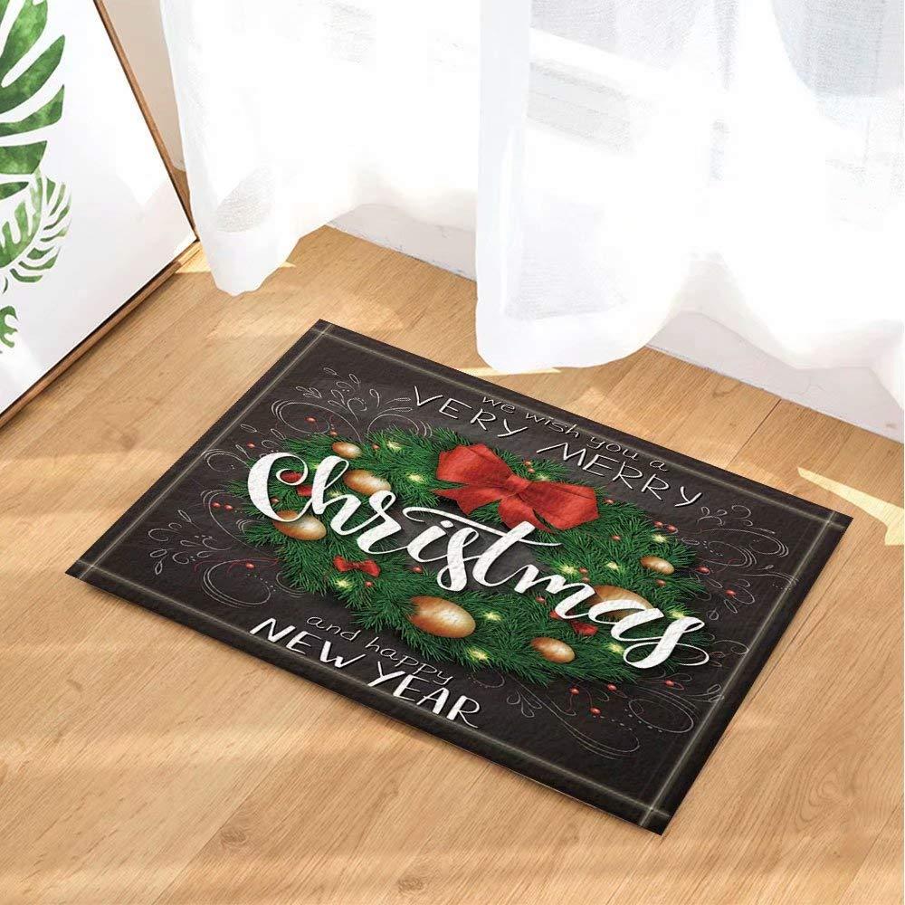 Año nuevo decoración de cartel Bola navideña en árbol con ...
