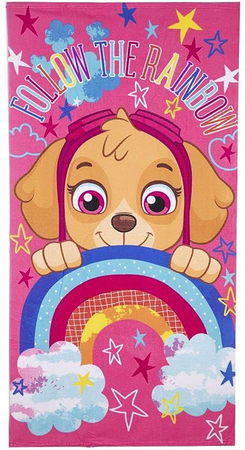 Nickelodeon Paw Patrol - Toalla de baño (Microfibra), diseño de Personajes de Skye