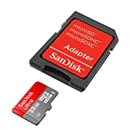 SanDisk Ultra 32GB MicroSDHC Class 10 UHS Memory Card Speed Up To 30MB/s With Adapter - SDSDQUA-032G-U46A [Old Version]