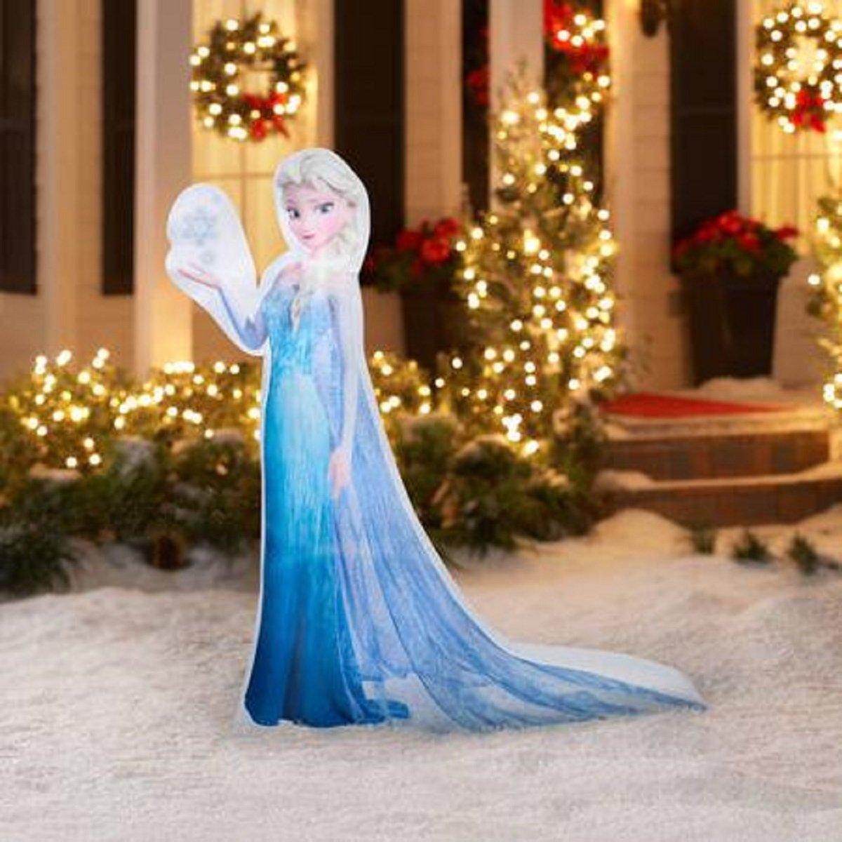 Amazon.com: Christmas Inflatable 5' LED Photoreal Elsa Disney ...