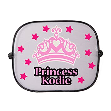 Personalised Pink Crown Car Sunshade Custom Childs Name Onto A