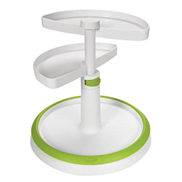 OXO Tot Two Tier Turntable, White/Green (Discontinued By Manufacturer)