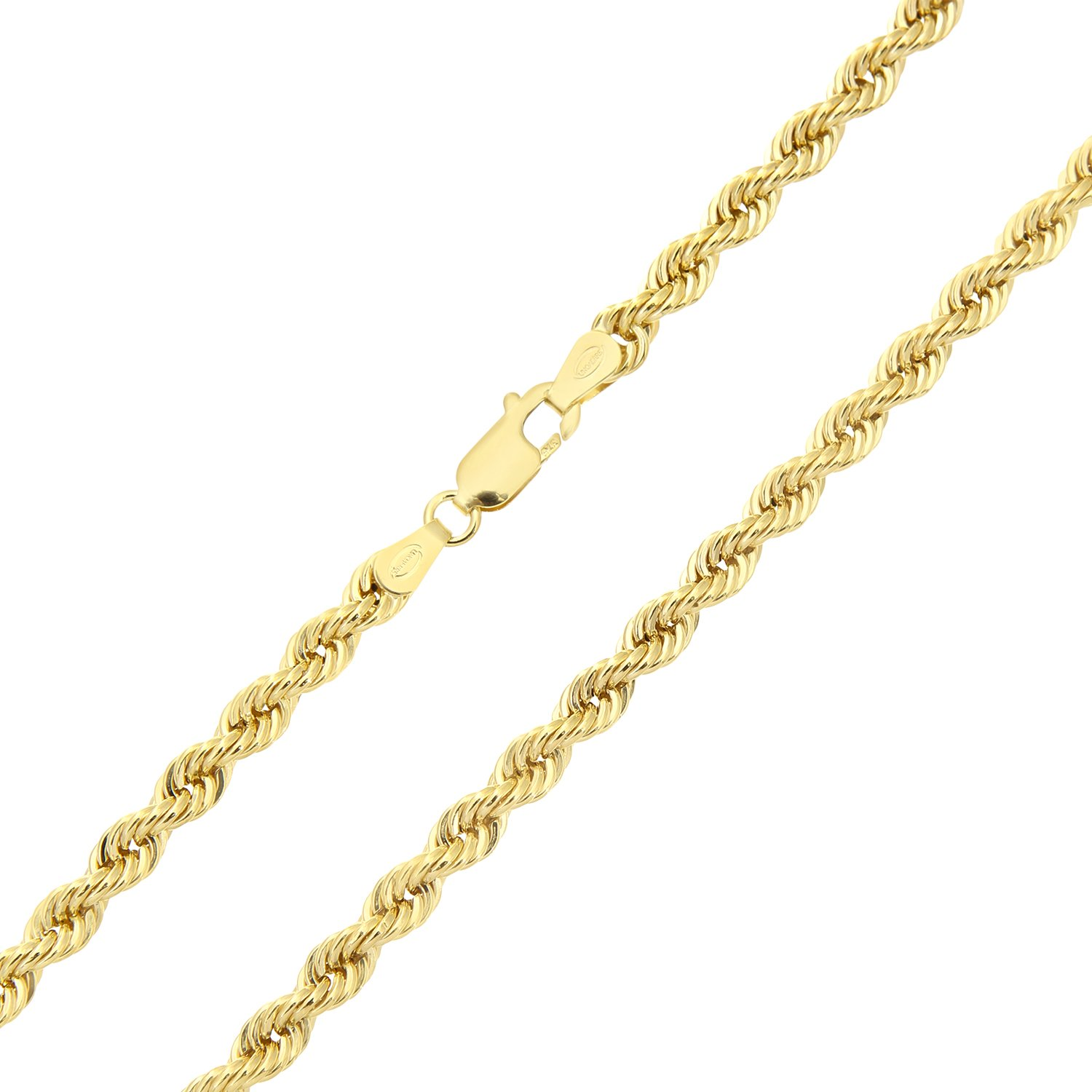 Citerna 9 ct Yellow Gold Rope Chain Necklace of 18 inch/46 cm Length M5frV