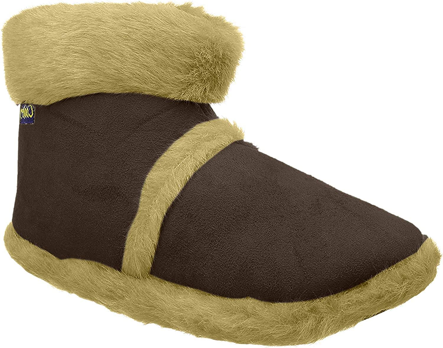 Mens Coolers Brown Furry Ankle Boot