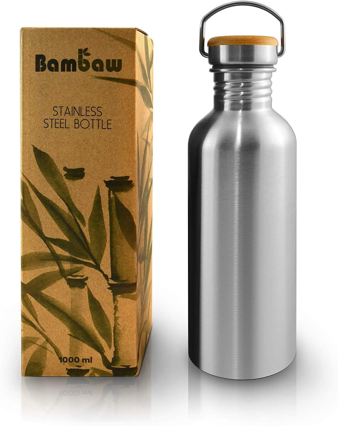 32oz Water Bottle BPA Free | Large Water Bottle Stainless Steel | Camping Water Bottle for Women and Men | Water Bottle Travel | Water Bottle Large | Lightweight Water Bottle Large | Bambaw