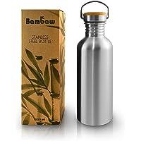 Bambaw Butelka do picia 1 l ze stali nierdzewnej | trwała butelka na wodę 1 l | ekologiczna butelka na wodę…