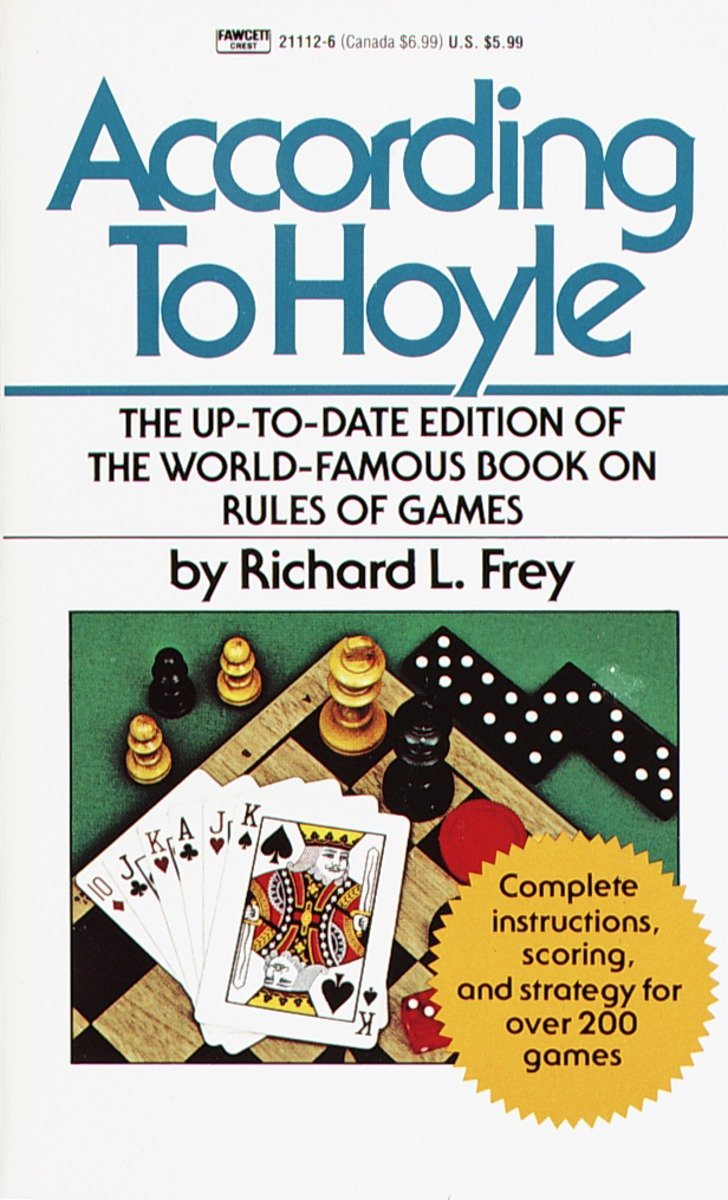 According To Hoyle The Up Date Edition Of World Famous Book On Rules Games Mass Market Paperback December 12 1985